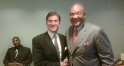 with George Foreman